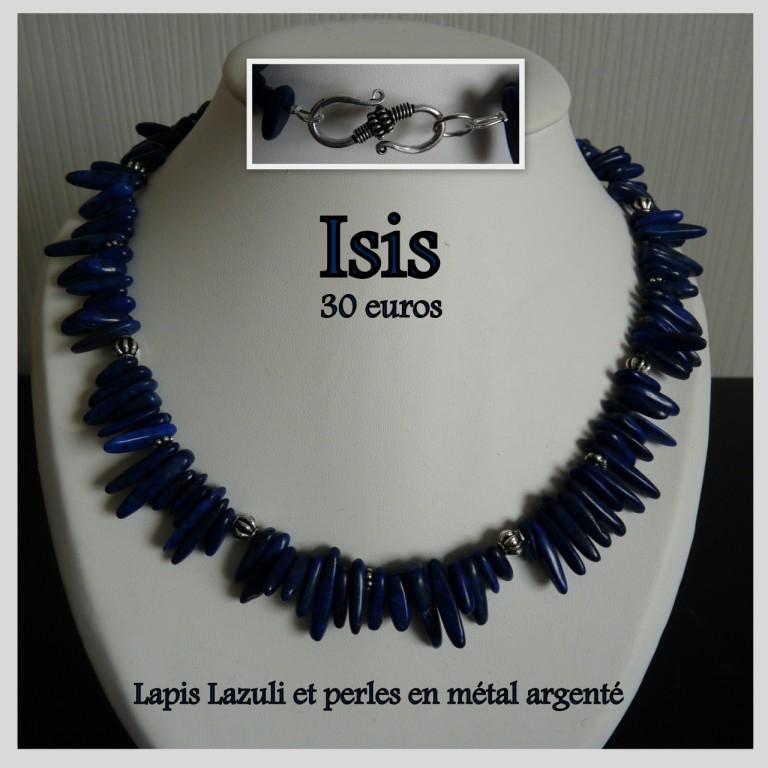 Les Bijoux D Emilie 187 Isis Lapis Lazuli Et Perles Du
